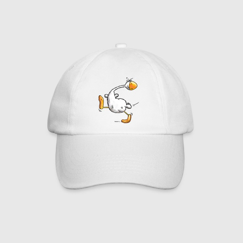 Funny Indian runner duck cartoon - Baseball Cap