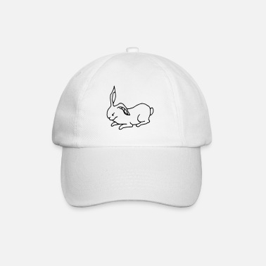 Rabbit outlines (vector graphic) - Baseball Cap