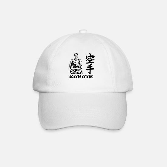 Karate Caps & Hats - karate - Baseball Cap white/white