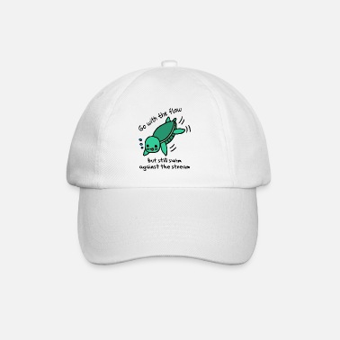 Against The Flow Swim with the flow - swim against the current - Baseball Cap