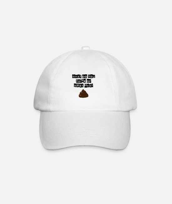 Bushwackers Caps & Hats - Millwall - What do you think of west ham? - Baseball Cap white/white