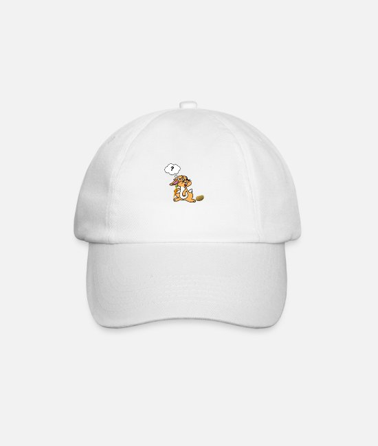 Confused Caps & Hats - Confused bunny - Baseball Cap white/white