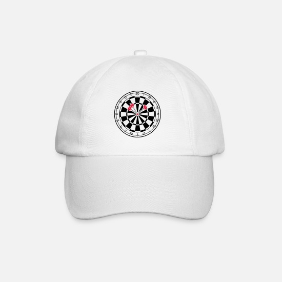 Darts Caps & Hats - Triple Bullseye Dartboard Darts - Baseball Cap white/white