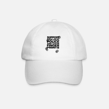 Police Support The Police - Leave Fingerprints Black - Baseball Cap