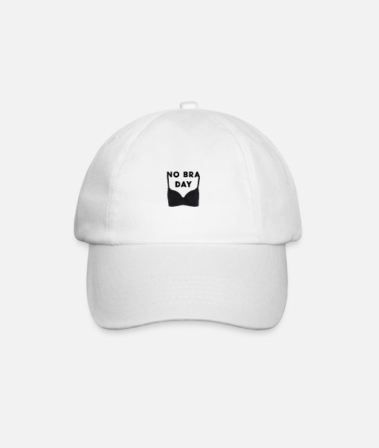 Big Breasts Caps & Hats - No Bra Bust Support Gift - Baseball Cap white/white