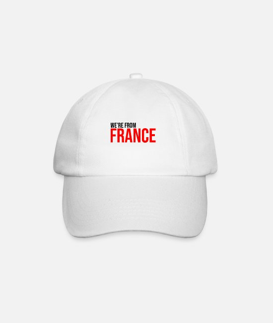 Couples Caps & Hats - we're from France French country - Baseball Cap white/white