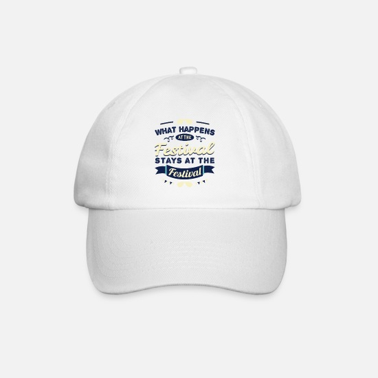Festival Caps & Hats - Festival Gift Party Celebrate Music Open Air - Baseball Cap white/white