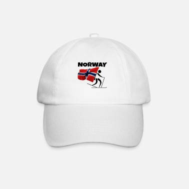 Country Biathlon with heart in Norway as a gift - Baseball Cap