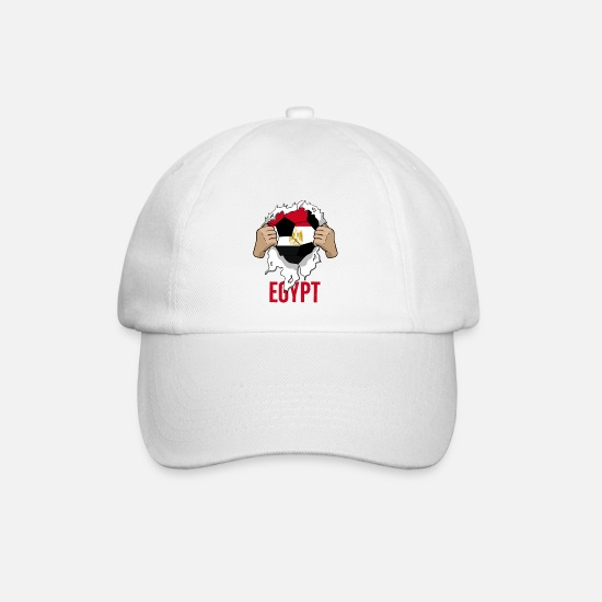 National Team Caps & Hats - Egypt Egypt Cool Football Gift Fan - Baseball Cap white/white