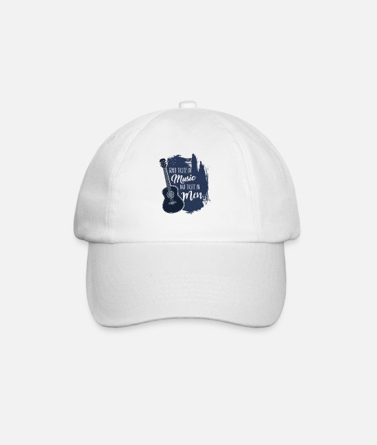 Sounds Caps & Hats - Good Taste in Music Bad Taste in Men - Baseball Cap white/white