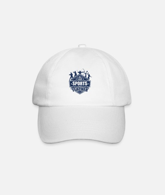 Teacher Caps & Hats - Teacher teacher teacher teacher - Baseball Cap white/white