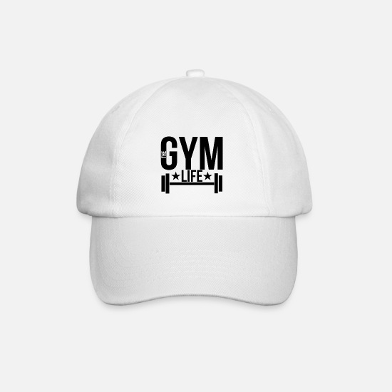 Fitness Caps & Hats - Gym - Baseball Cap white/white