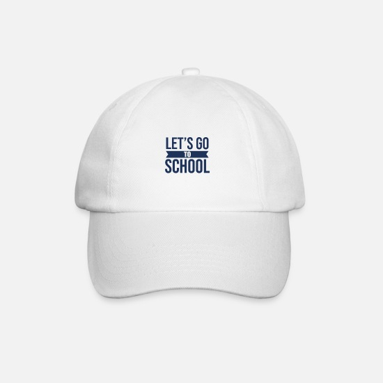 Gift Idea Caps & Hats - Pride enrollment first grader elementary school students - Baseball Cap white/white