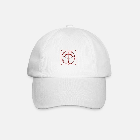 Gift Idea Caps & Hats - Bow and arrow - bow and arrow - Baseball Cap white/white