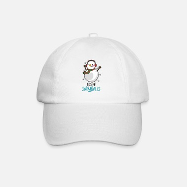 Kiss me Snowballs - Funny Christmas Gift Idea - Baseball cap