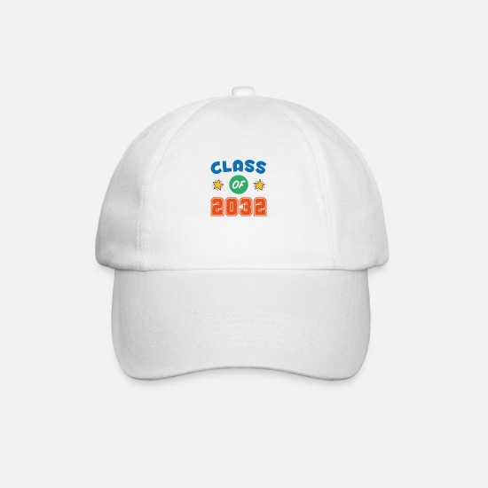 College Caps & Hats - 2032 Graduation Shirt, Class of 2032 Grow With Me - Baseball Cap white/white
