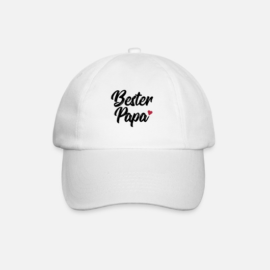 Love Caps & Hats - Best dad - Baseball Cap white/white