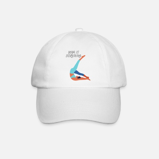 Active Caps & Hats - Sporty yoga figure - Baseball Cap white/white