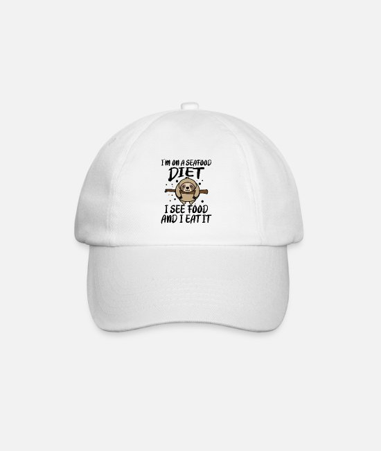 Party Caps & Hats - I'm on a diet - Baseball Cap white/white