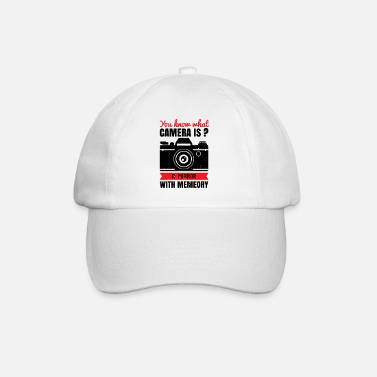 Birthday Caps & Hats - You know what camera is - Baseball Cap white/white