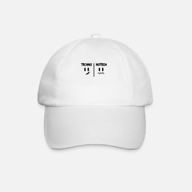 Rave Techno No Tech Electro Rave Gift Saying Funny - Gorra béisbol