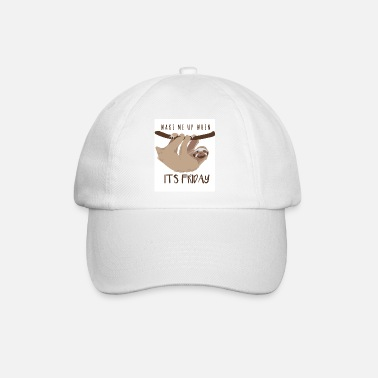 Rest Sloth Wake my up when it's friday - Baseball Cap