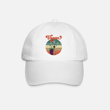 Careful Eggplant retro old school design garden gift - Baseball Cap