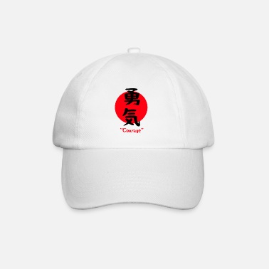 Japanese Japanese character for courage bravery symbol - Baseball Cap