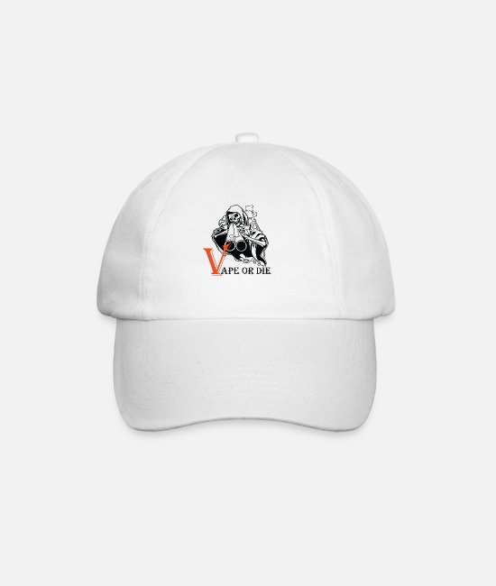 Vaping Caps & Hats - VAPE OR THE 2 - Baseball Cap white/white