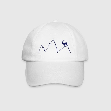 ibex capricorn mountains alps climbing goat sheep  - Baseball Cap