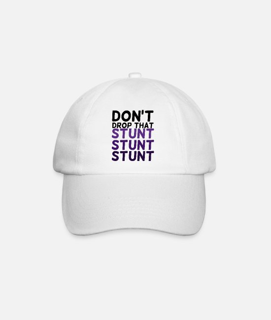 Stunt Caps & Hats - Cheerleader: Don't Drop That Stunt Stunt Stunt - Baseball Cap white/white