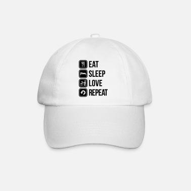 Eat eat sleep love repeat - Baseball Cap