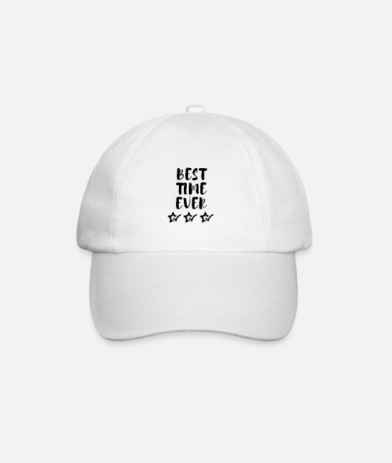 Cheerful Caps & Hats - BEST TIME EVER with three stars - Baseball Cap white/white