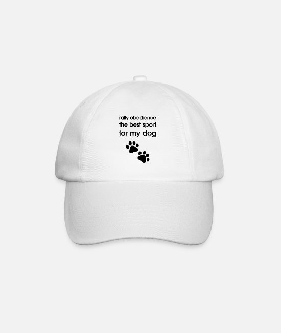Obedience Caps & Hats - Rally Obedience the best sport for my dog - Baseball Cap white/white