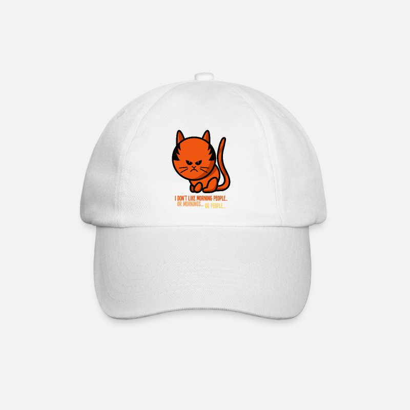 Animal Casquettes et bonnets - grumpy cat - i don't like morning people - Casquette baseball blanc/blanc