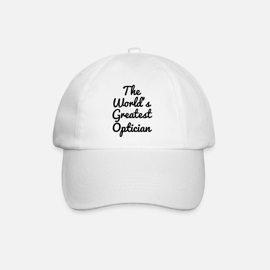 Ophthalmologist Caps & Hats - Optician Optiker Opticien Glasses Eyes Lunettes - Baseball Cap white/white