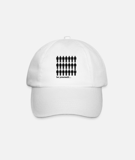 Totem Caps & Hats - be yourself - Baseball Cap white/white