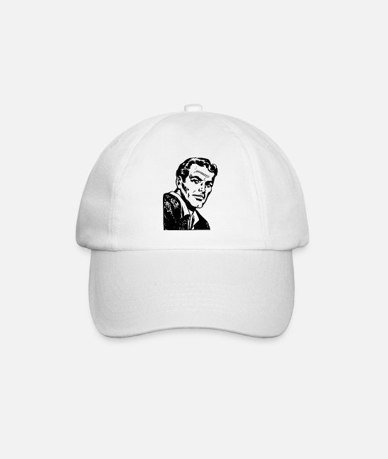 Drawing Caps & Hats - macho - Baseball Cap white/white