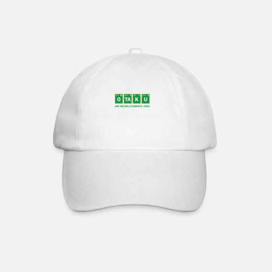 Cosplay Caps & Hats - OTAKU Anime Chemistry Nerd Funny Sayings Gift - Baseball Cap white/white