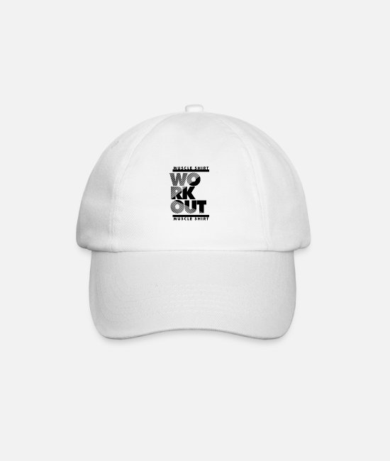 Work Out Caps & Hats - workout - Baseball Cap white/white
