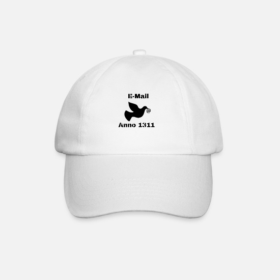 Pigeon Caps & Hats - e-mail - Baseball Cap white/white