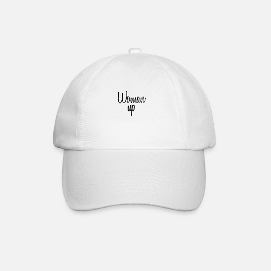 Love Caps & Hats - Woman up 2nd Edit - Baseball Cap white/white