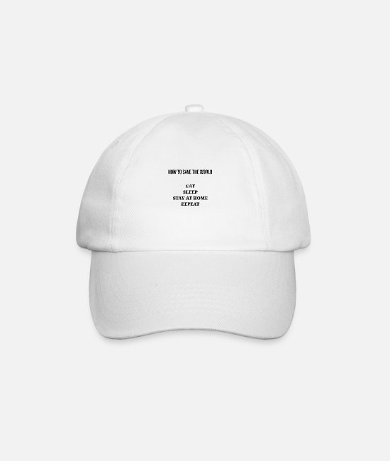 Epidemic Caps & Hats - How to save the world - Baseball Cap white/white