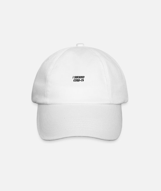 Epidemic Caps & Hats - I survived Covid-19 - Baseball Cap white/white