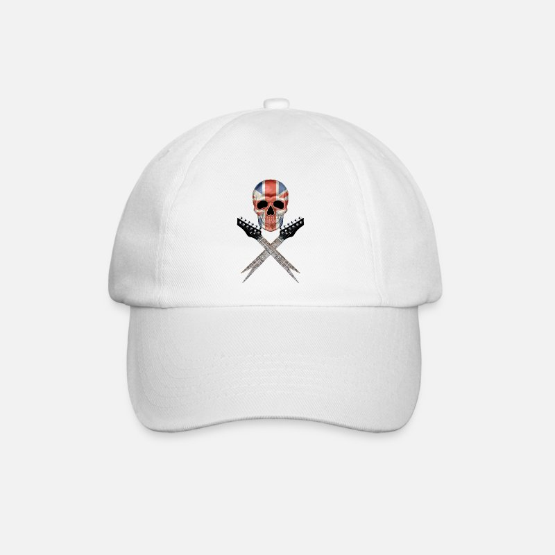 Britain Caps & Hats - Britain Rocks 001 - Baseball Cap white/white