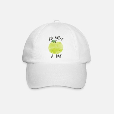 an apple a day - Baseball Cap