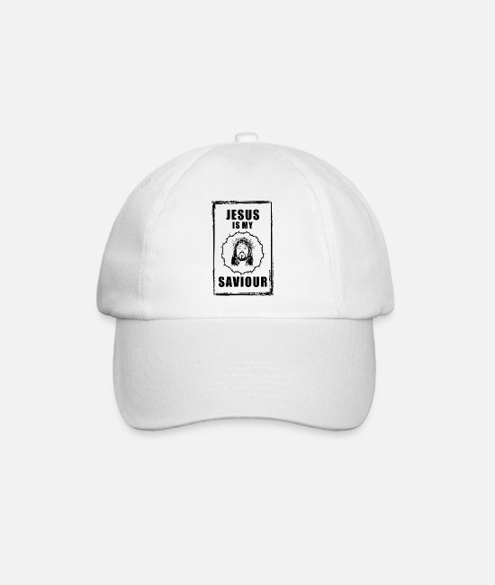 Redeemer Caps & Hats - Jesus is my savior - Baseball Cap white/white