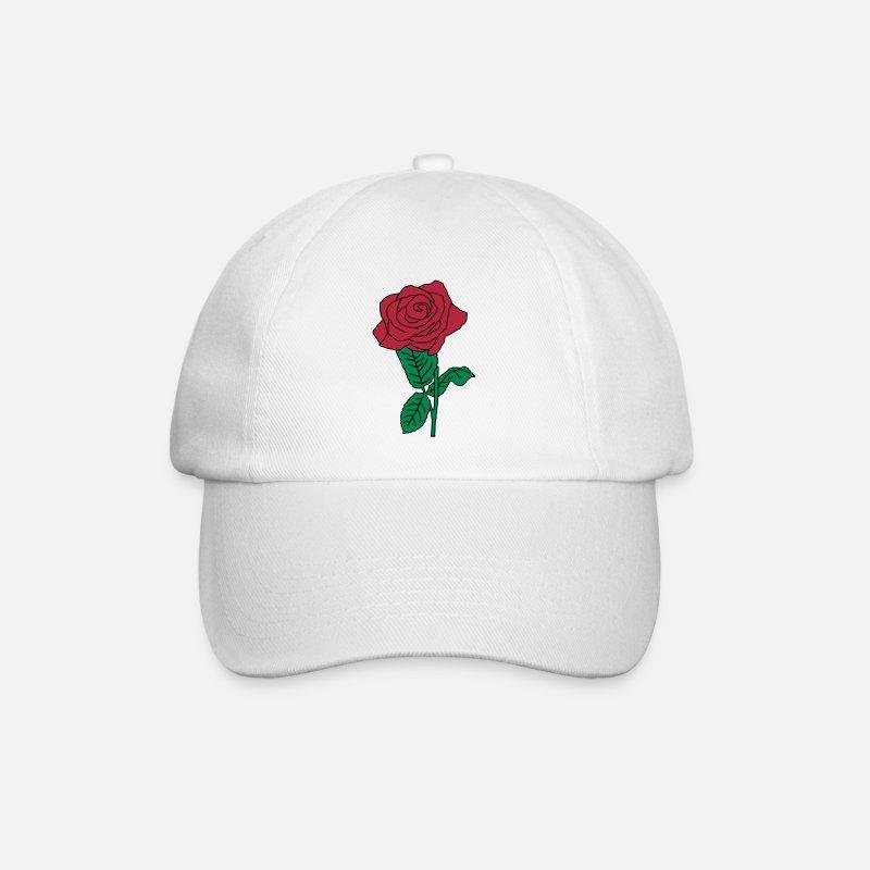 Rosa Cappelli   Berretti - fiore rosa rs2 - Cappello con visiera  bianco bianco 21066d7ff3db