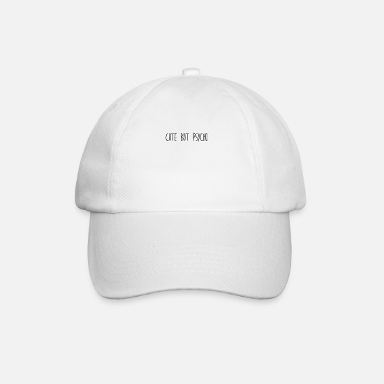 Love Caps & Hats - Cute But Psycho # 2nd EDIT - Baseball Cap white/white