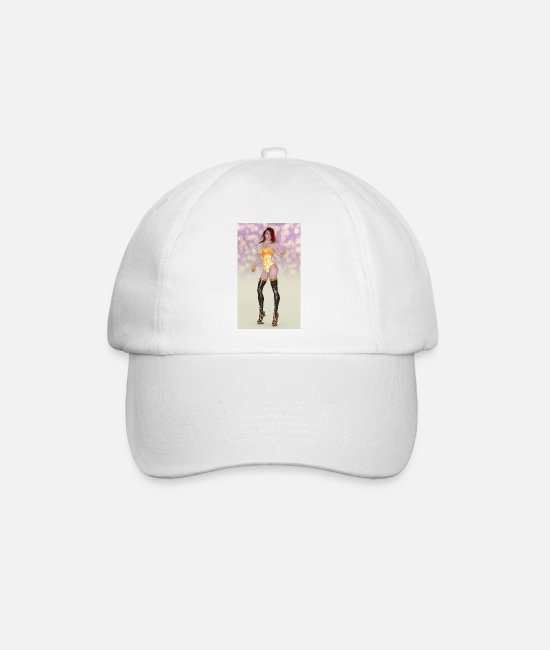 Attractive Caps & Hats - Sexy woman with practical jokes - Baseball Cap white/white